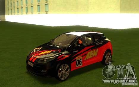Renault Megane RS para visión interna GTA San Andreas