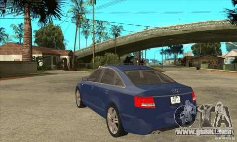 Audi S6 Limousine V1.1 para GTA San Andreas vista posterior izquierda