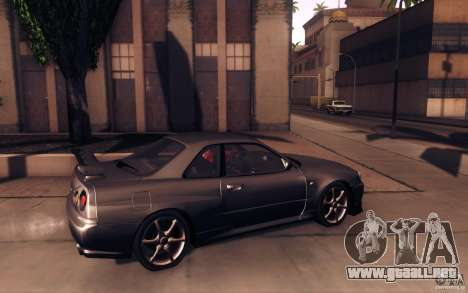 Nissan Skyline GTR R34 VSpecII para GTA San Andreas left