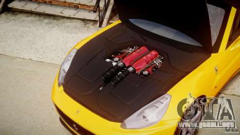 Ferrari California v1.0 para GTA 4 vista interior