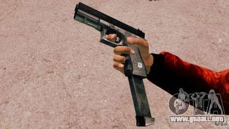 Glock 18 Akimbo (negro/gris) para GTA 4