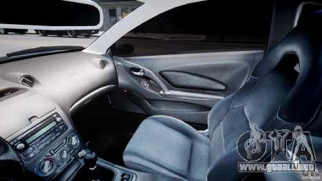 Toyota Celica Tuned 2001 v1.0 para GTA 4 vista interior