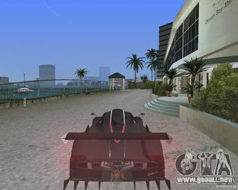 Pagani Zonda R para GTA Vice City left