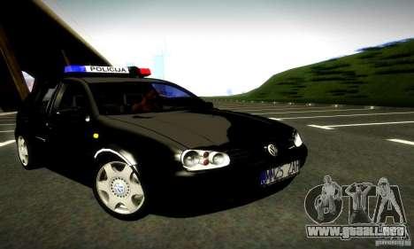 Volkswagen Golf Police para GTA San Andreas