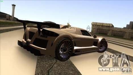 Gumpert Apollo para visión interna GTA San Andreas