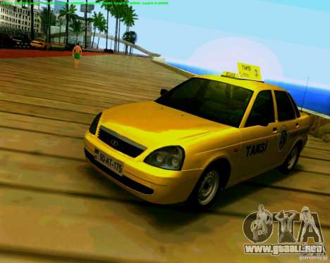 2170 LADA Priora Baki taksi para GTA San Andreas left