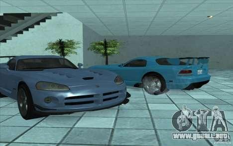 Dodge Viper SRT10 ACR para GTA San Andreas vista posterior izquierda
