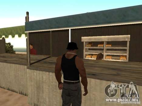 Mercado en la playa para GTA San Andreas