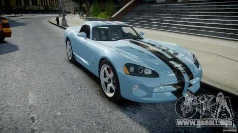 Dodge Viper SRT-10 para GTA 4 vista hacia atrás