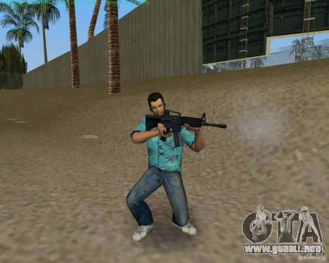 M4 de Counter Strike Source para GTA Vice City quinta pantalla