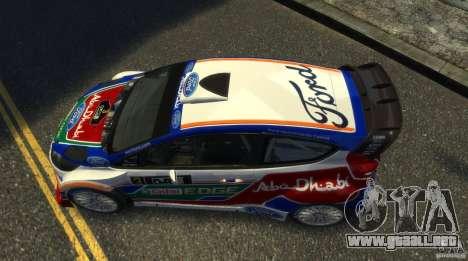 Ford Fiesta RS WRC para GTA 4 visión correcta