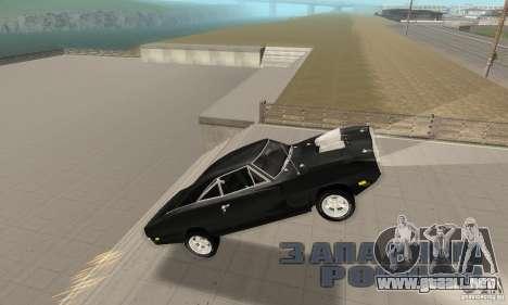 Dodge Charger RT 1970 The Fast & The Furious para la vista superior GTA San Andreas