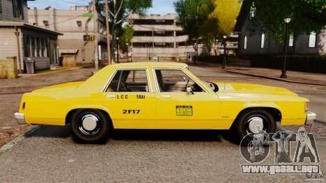 Ford LTD Crown Victoria 1987 L.C.C. Taxi para GTA 4 left
