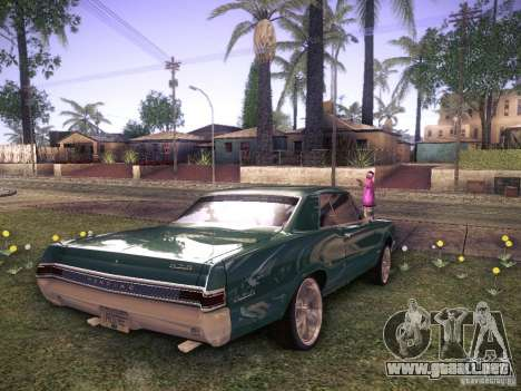 Pontiac GTO 65 para GTA San Andreas vista posterior izquierda