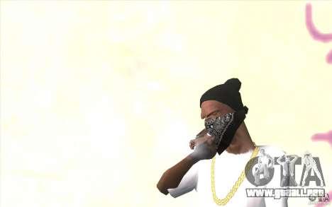 Guantes sin dedos v2 para GTA San Andreas segunda pantalla