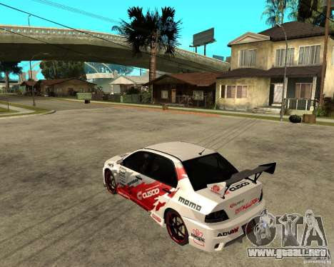 Lancer Evolution VIII, los estadounidenses inter para GTA San Andreas left