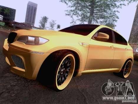 BMW X6M Hamann para las ruedas de GTA San Andreas