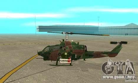 AH-1 super cobra para GTA San Andreas vista posterior izquierda