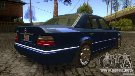 Mersedes-Benz E500 para visión interna GTA San Andreas