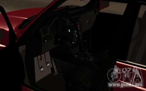 BMW M3 E30 para GTA San Andreas vista hacia atrás