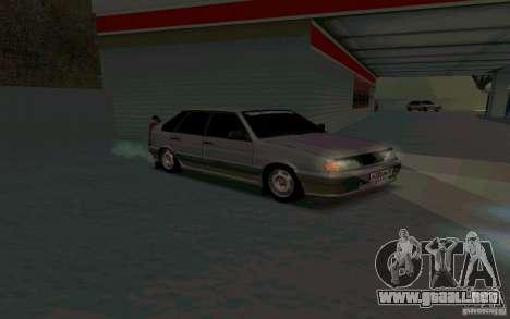 Ваз 2114 ruso para GTA San Andreas vista posterior izquierda