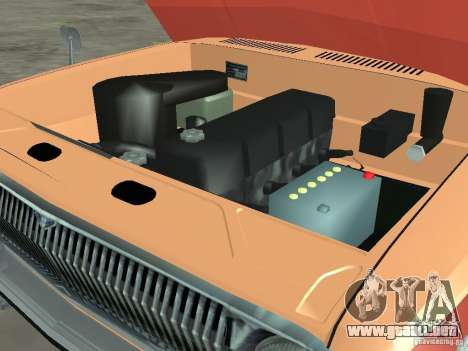 Volga GAZ-24 AEROFLOT 02 para visión interna GTA San Andreas
