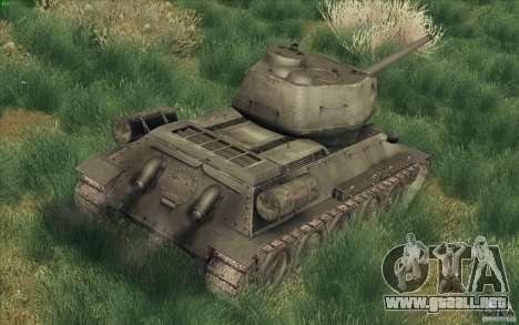 T-34-85 desde el juego COD World at War para GTA San Andreas vista posterior izquierda