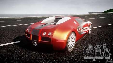Bugatti Veyron 16.4 v1 para GTA 4 Vista posterior izquierda