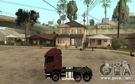 Scania 124 R480 6x4 Truck 1 para GTA San Andreas left