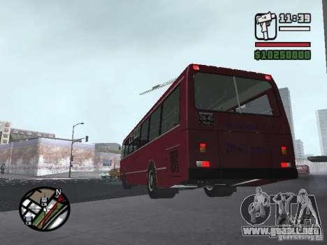 LAZ 5252 para GTA San Andreas vista posterior izquierda