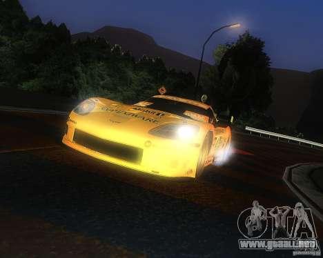 Chevrolet Corvette Drift para GTA San Andreas vista posterior izquierda