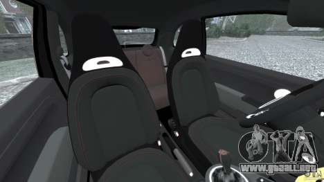 Fiat 500 Abarth para GTA 4 vista interior
