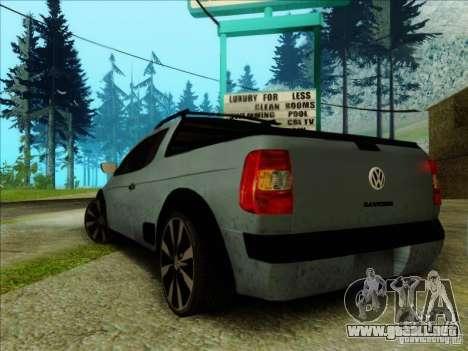 Volkswagen Saveiro 2014 para GTA San Andreas left