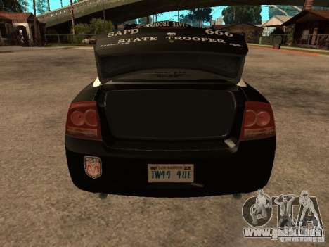 Dodge Charger RT Police para vista lateral GTA San Andreas
