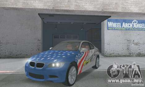 BMW M3 E92 Stock para vista lateral GTA San Andreas