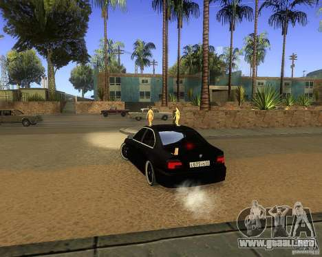 BMW 525i e39 para GTA San Andreas vista posterior izquierda