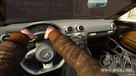 Turismo Spider para GTA 4 vista hacia atrás