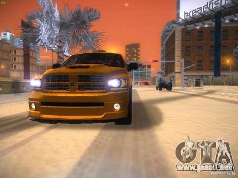 Dodge Ram SRT-10 para GTA San Andreas vista posterior izquierda