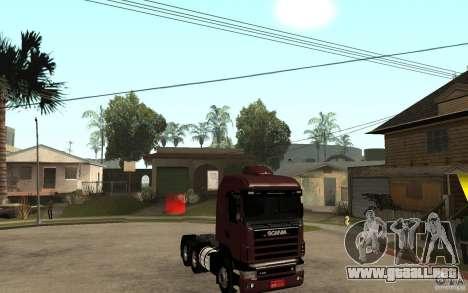 Scania 124 R480 6x4 Truck 1 para GTA San Andreas vista hacia atrás