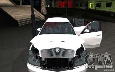 Car crash from GTA IV para GTA San Andreas segunda pantalla