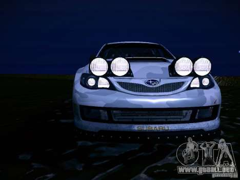 Subaru Impreza WRX STi N14 Rallycross para vista inferior GTA San Andreas