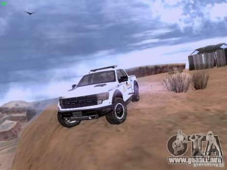 Ford Raptor Royal Canadian Mountain Police para GTA San Andreas