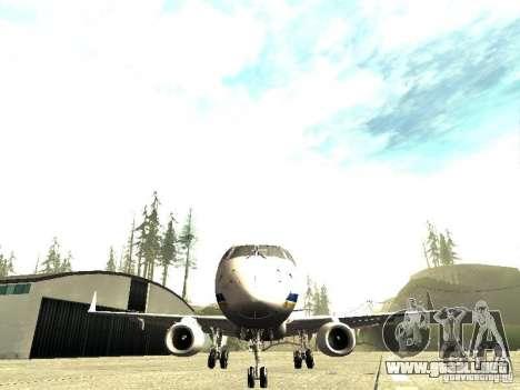 Embraer E-190 para GTA San Andreas vista hacia atrás