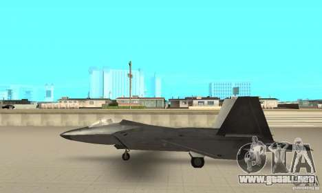F-22 Black para GTA San Andreas vista posterior izquierda