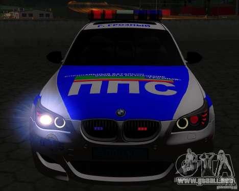 BMW M5 E60 policía para la vista superior GTA San Andreas