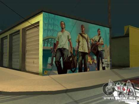 Cartel de GTA V para GTA San Andreas