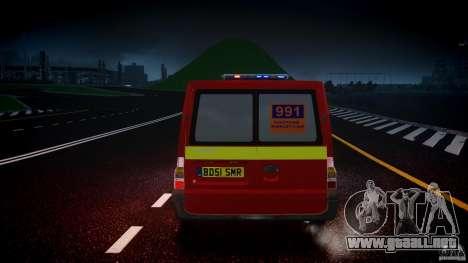 Ford Transit Polski uslugi elektryczne [ELS] para GTA 4 vista desde abajo
