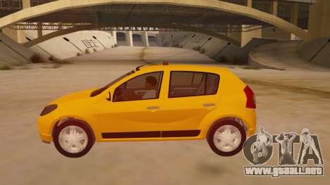 Renault Sandero Taxi para GTA San Andreas left
