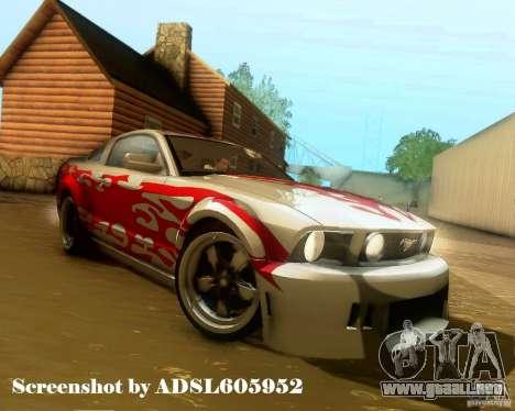 Ford Mustang GT 2005 Tunable para las ruedas de GTA San Andreas