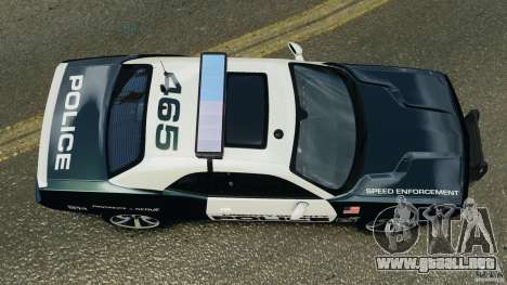 Dodge Challenger SRT8 392 2012 Police [ELS][EPM] para GTA 4 visión correcta